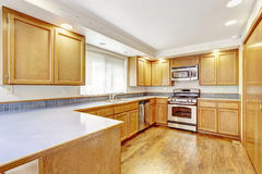 Kitchen interior in empty house. Stock Images