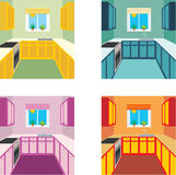 Kitchen interior in four color variants. Kitchen f Royalty Free Stock Photography