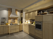 Kitchen interior and furniture Royalty Free Stock Image
