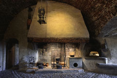 Kitchen interior from Gruyeres Castle Royalty Free Stock Photography