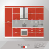 Kitchen. Interior  illustration eps 10 Royalty Free Stock Images