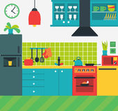 Kitchen interior illustration Royalty Free Stock Photography