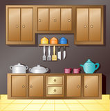 Kitchen interior stock illustration