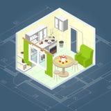 Kitchen Interior Isometric Stock Photography
