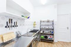 Kitchen Interior in Kindergarten Royalty Free Stock Images