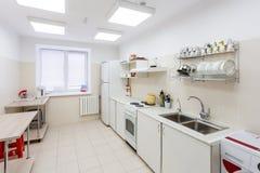 Kitchen Interior in Kindergarten Stock Photo