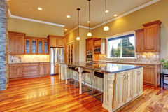 Kitchen interior in luxury house Stock Images