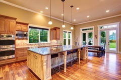 Kitchen interior in luxury house Stock Photography