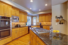 Kitchen interior in luxury house Royalty Free Stock Image
