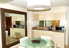 Kitchen interior at luxury villa Royalty Free Stock Photos