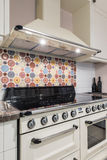 Kitchen interior with modern appliances, oven,gas stove Stock Image