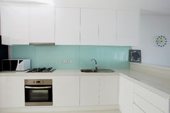 Kitchen interior in modern house e Royalty Free Stock Image