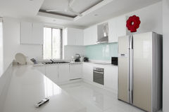 Kitchen interior in modern house Royalty Free Stock Image