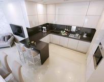 Kitchen interior, modern style Royalty Free Stock Photos