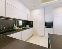 Kitchen interior, modern style Stock Photography