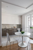 Kitchen interior in modern apartment in scandinavian style Stock Photo