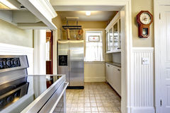 Kitchen interior in old house with modern appliances Stock Photography