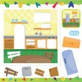 Kitchen interior puzzle Stock Photo