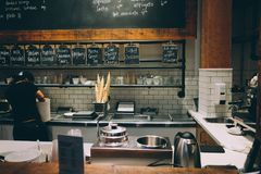 Kitchen Interior in a Restaurant Royalty Free Stock Image