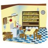 Kitchen interior scene Royalty Free Stock Photography