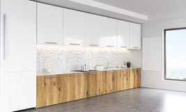 Kitchen interior sideview Stock Images
