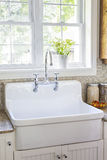 Kitchen interior with sink Royalty Free Stock Photo