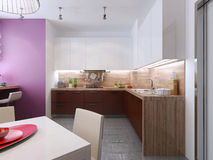 Kitchen interior in the style of constructivism Stock Images