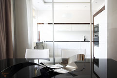 Kitchen interior with table Stock Images