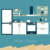 Kitchen interior vector Royalty Free Stock Photo