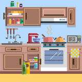 Kitchen interior vector. For your ideas Royalty Free Stock Image