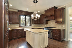 Kitchen with island Stock Photography