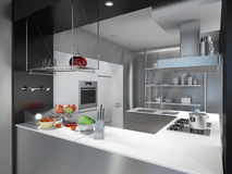Kitchen island Stock Photo
