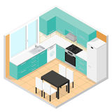 Kitchen Isometric. Vector Stock Photo