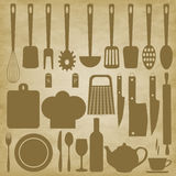 Kitchen items for cooking Stock Photo