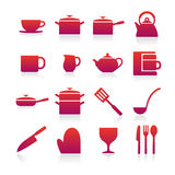 Kitchen items icon Royalty Free Stock Images