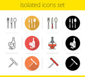 Kitchen items icons set Stock Image