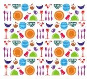 Kitchen items illustration Royalty Free Stock Photo