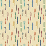 Kitchen items pattern Royalty Free Stock Photography