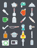 Kitchen items  vector icons set Stock Images