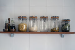 Kitchen jars Royalty Free Stock Photography