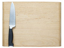 Kitchen Knife. On Cutting Board Royalty Free Stock Images