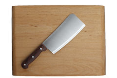Kitchen Knife. On Cutting Board Stock Photos
