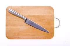 Kitchen knife and bard. Stock Photos