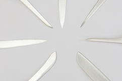 Kitchen knife blades Royalty Free Stock Image