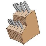 Kitchen Knife Block Set Royalty Free Stock Images