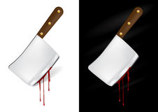 Kitchen knife with blood Royalty Free Stock Photos