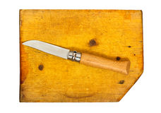 Kitchen knife on the chopping board Royalty Free Stock Photography