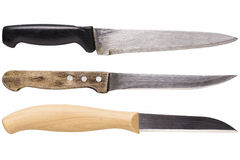 Kitchen knife collection stock image