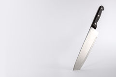 Kitchen knife with copy space. Kitchen knife on a light background with copy space Stock Image
