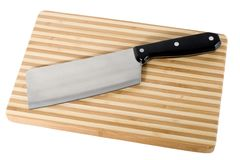 kitchen knife on cutting board Stock Photography